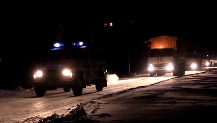 «Новогодняя» колонна МЧС России отправилась в Донбасс