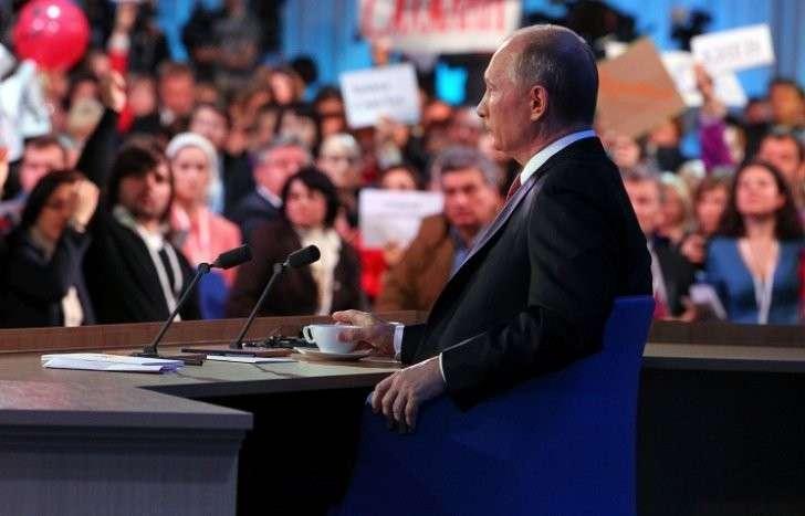 Пресс-конференция Владимира Путина будет транслироваться на 4 экранах на улицах Севастополя