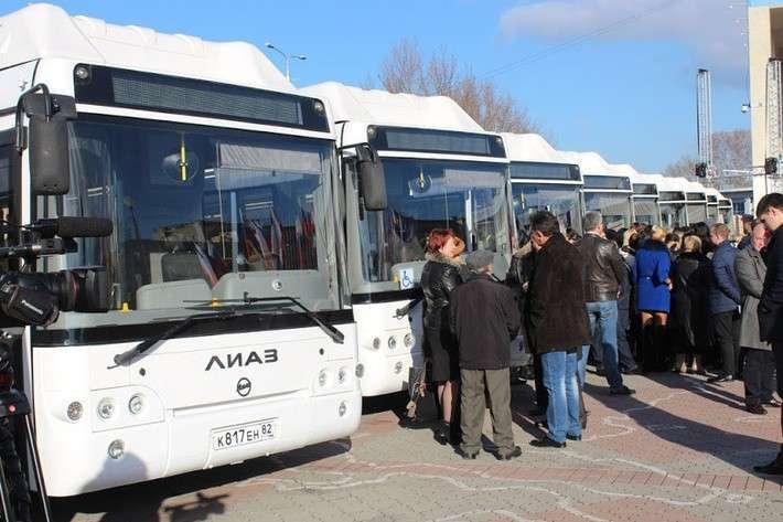 Первая партия газовых автобусов передана Симферополю