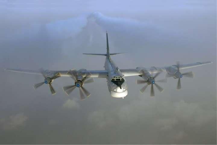 Посадка Ту-95 на американский авианосец