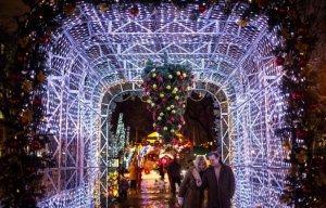 В дни новогодних каникул москвичей ждут зимние забавы, угощения и конкурсы
