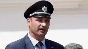 Виталий Кличко в полицейской фуражке