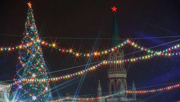 Новогодняя елка на Красной площади. Архив