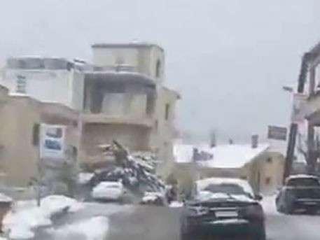 Ближневосточная аномалия: в ряде провинций Сирии прошел мощный снегопад