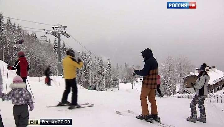 Красная Поляна радует гостей снегом и ценами