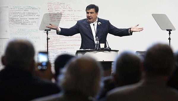 Губернатор Одесской области Михаила Саакашвили во время антикоррупционного форума на Украине. Архивное фото