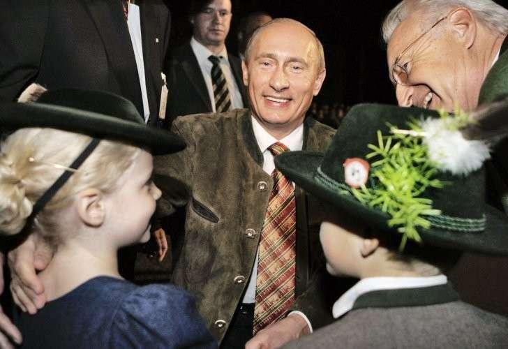 Во время одного из визитов Владимира Путина в Германию