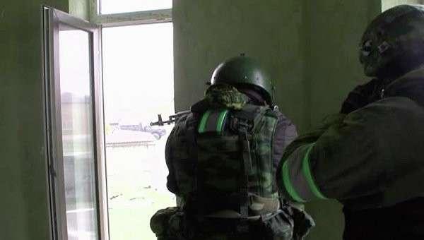 Дагестанская полиция во время спецоперации