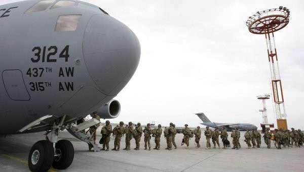 Центр транзитных перевозок ВВС США на базе Манас. Архивное фото