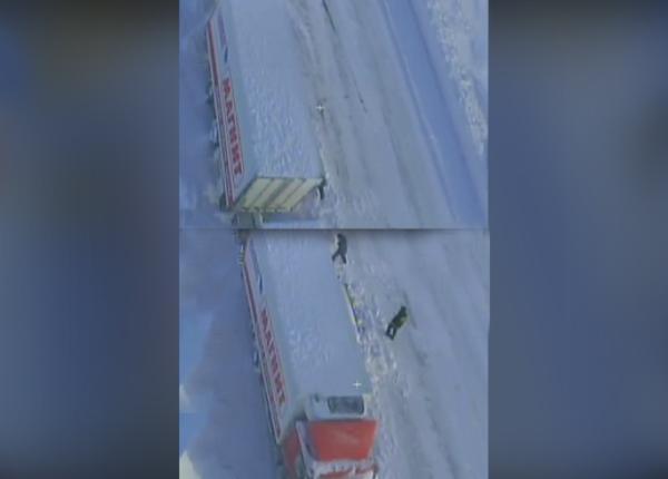 Причиной снежного плена на трассе Оренбург — Орск стала фура «Магнита»