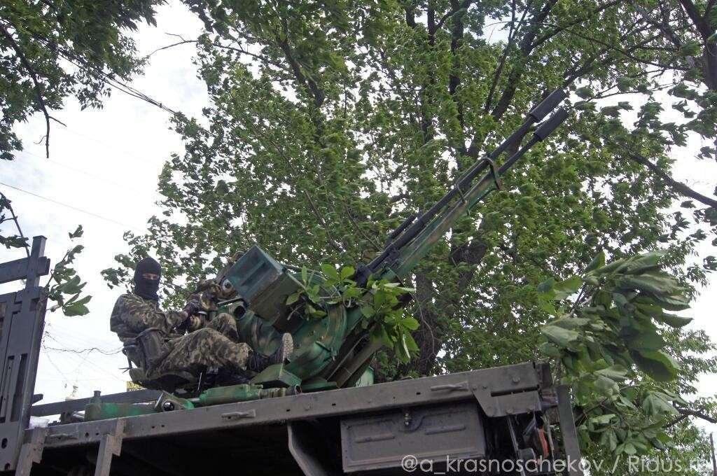 Славянск. Первый день второго месяца штурма