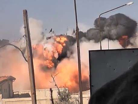 Сирийская армия похоронила террористов в руинах, взорвав тоннель под Дамаском