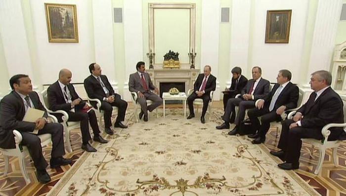 Владимир Путин предложил эмиру Катара согласовать позиции в энергетике