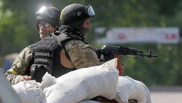 Украинские силовики на блокпосту, архивное фото