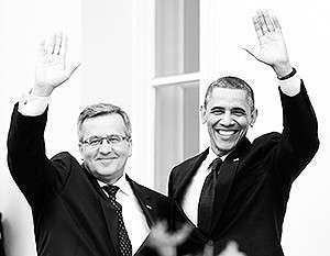 «Наше участие в обеспечении безопасности Польши и союзников в регионе – это краеугольный камень также и нашей безопасности», – заверил Обама Коморовского