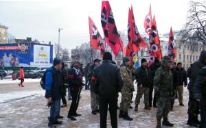 Сотня полоумных в центре Киева собралась при помощи Запада отобрать у России Кубань, Орёл и Курск