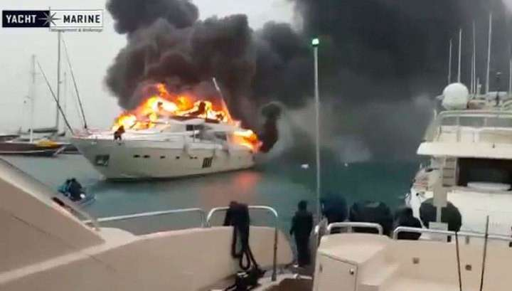 В Турции сгорела яхта российского бизнесмена за 6 миллионов долларов