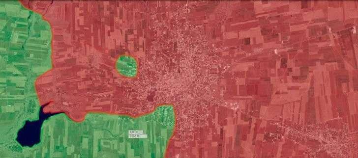 Обзор карты Шейх Мискин Деръа на вечер 25 01 2016