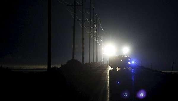 Контрольно-пропускной пункт полицейских вокруг национального заповедника в Орегоне
