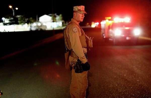 Американский истребитель рухнул на город в штате Калифорния