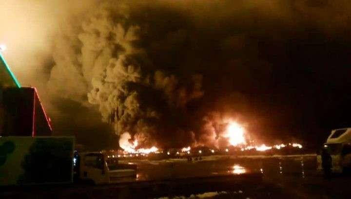 Под Петербургом горят продовольственные склады - «партнёры» о нас не забывают
