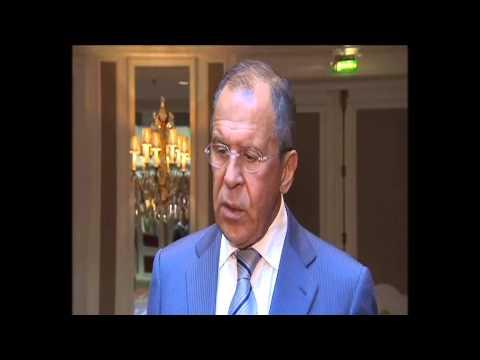 Выход к прессе С.Лаврова по итогам встречи с Дж.Керри