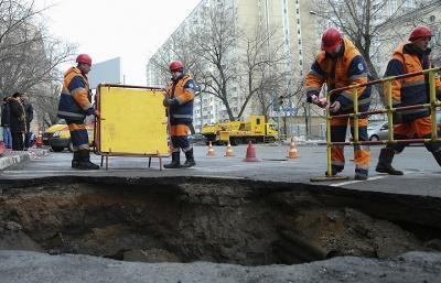 Власти Москвы догадались, что к ряду провалов грунта на улицах привели природные аномалии