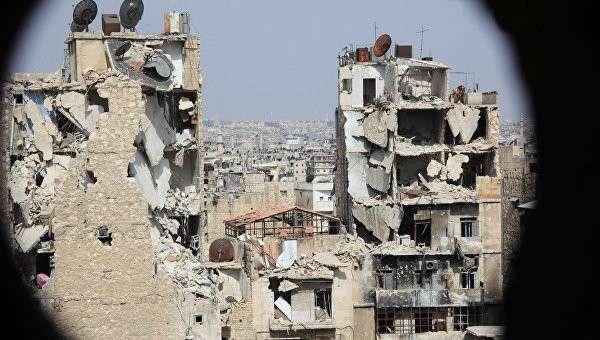 Вид на Алеппо со стороны пригорода. Архивное фото