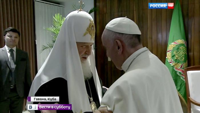 «Спасибо, брат»: папа Франциск доволен встречей с Патриархом Кириллом