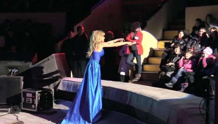 Российские артисты выступили в Донецке