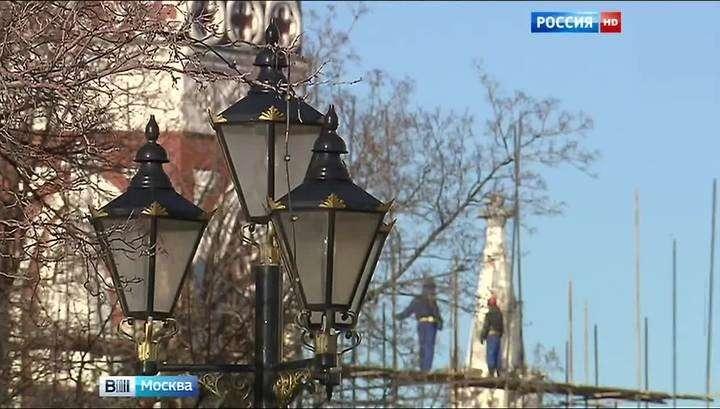 Началась реставрация Никольской башни Кремля
