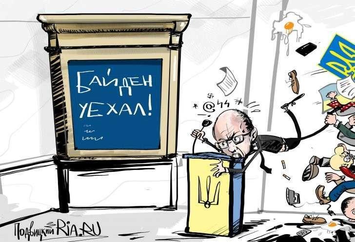 Байден призвал призвал Порошенко и Яценюка объединиться