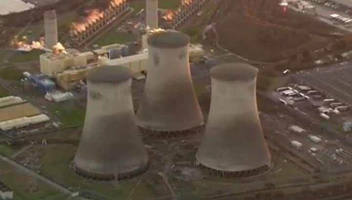 Взрыв электростанции в Оксфордшире в Англии