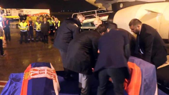 В Белград доставили тела убитых в Ливии сербских дипломатов