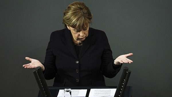 Меркель призвала германский бизнес потерпеть вотношении снятия антироссийс ...