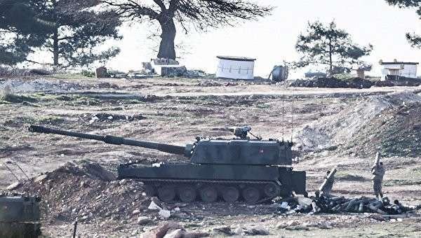 Турецкие военные на границе с Сирией. 15 февраля 2016