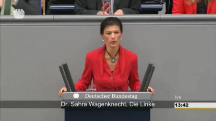 Сильная речь депутата Бундестага Сары Вагенкнехт: «немцы опять берут на себя роль, приводящую к катастрофе всех европейцев»