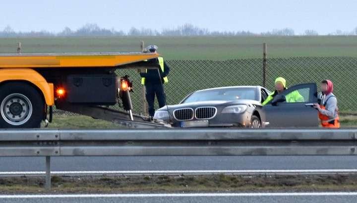 Аварию с участием машины президента Польши снял видеорегистратор
