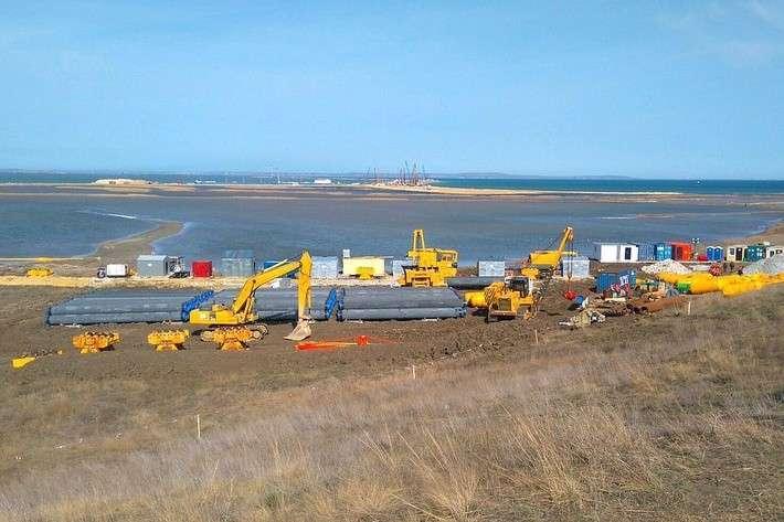 Газопровод в Крым уже готов на 30%