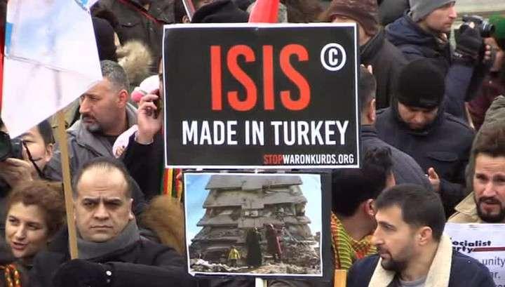«ИГИЛ сделано в Турции»: Лондон митингует против Эрдогана