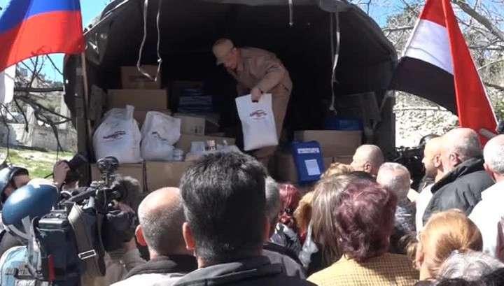 Ооновская гумпомощь «случайно» попала к сирийским бандитам
