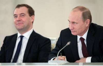 Президент и премьер-министр РФ поздравили женщин с 8 Марта