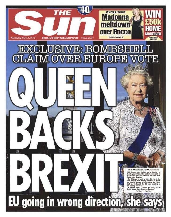 Скандал в Лондоне: Королева Великобритании «за» выход страны из Евросоюза?
