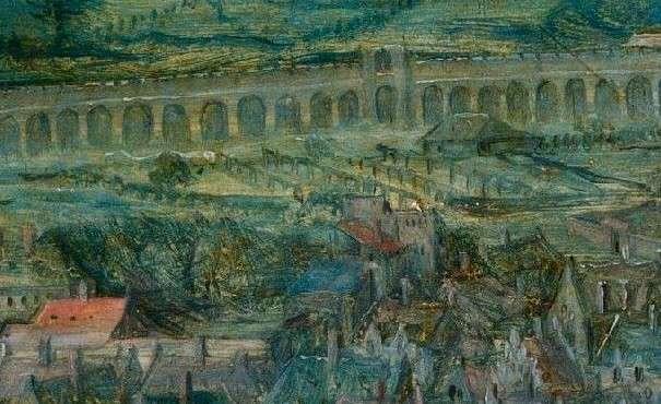 Вавилонская башня Брейгеля в деталях