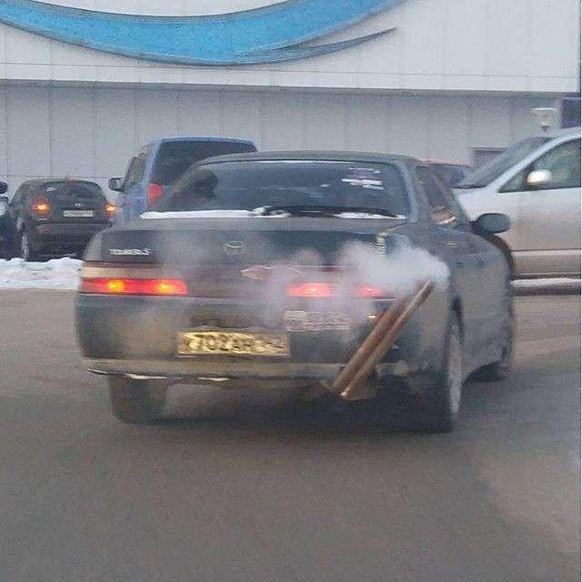 И даже автомобили, работающие на дровах Это Россия детка, прикол, россия