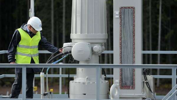 Пуск в эксплуатацию второй ветки газопровода Северный поток. Архивное фото