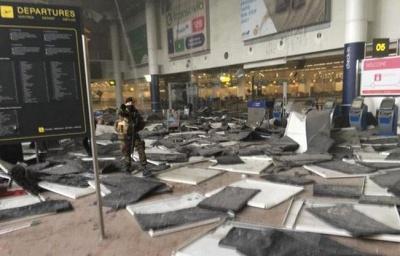 В аэропорту Брюсселя произошло 2 взрыва. Погибли 17 человек