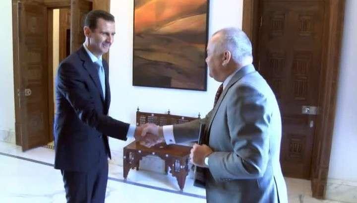 Башар Асад дал интервью Дмитрию Киселеву