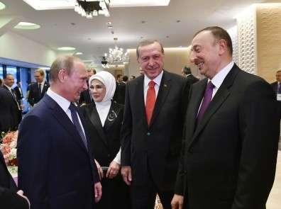 Путин, Эрдоган, Алиев