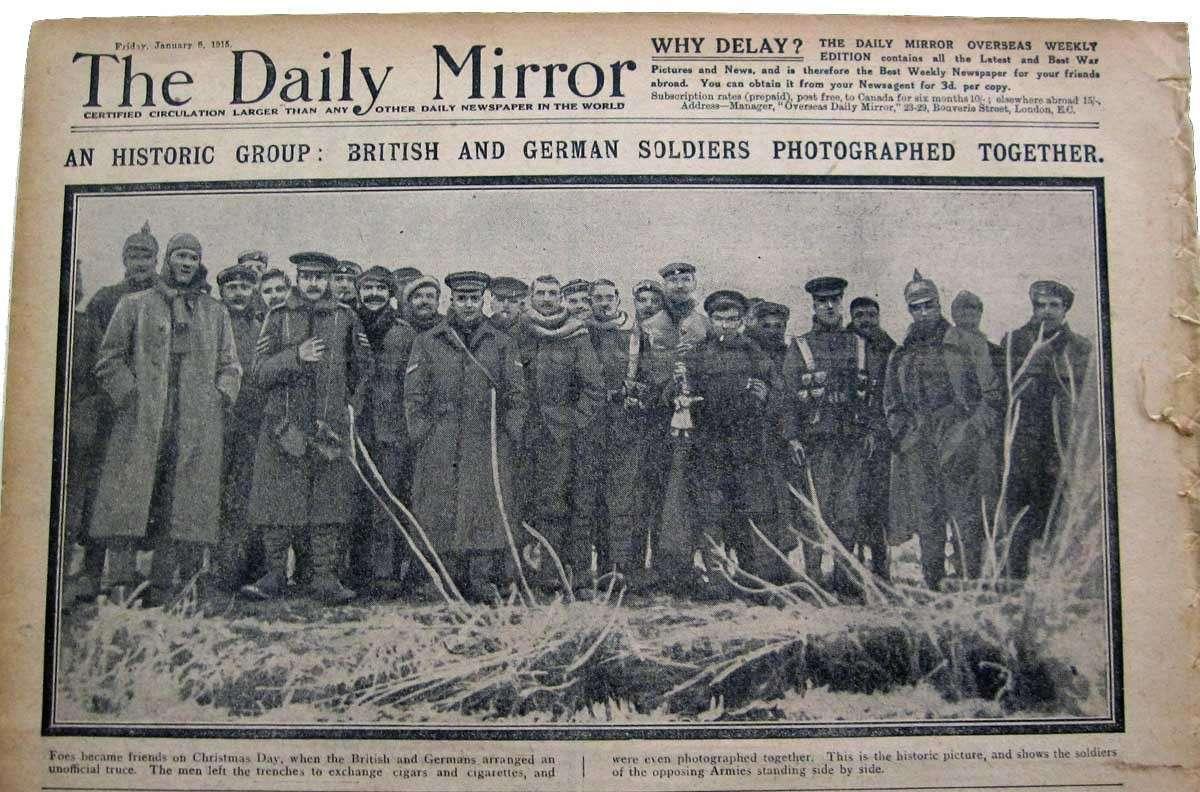 Ещё во времена 1й Мировой войны люди не хотели убивать друг друга